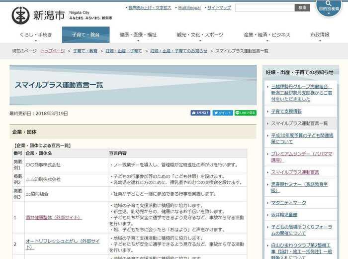 新潟市ホームページhttp://www.city.niigata.lg.jp/kosodate/ninshin/info/smileplusitiran.html